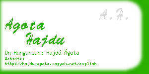 agota hajdu business card